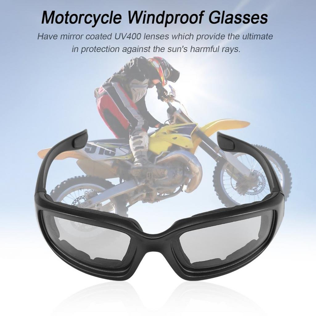 resistentes al viento a prueba de polvo antiUV gafas Geshiglobal Gafas de motocicleta para deportes al aire libre