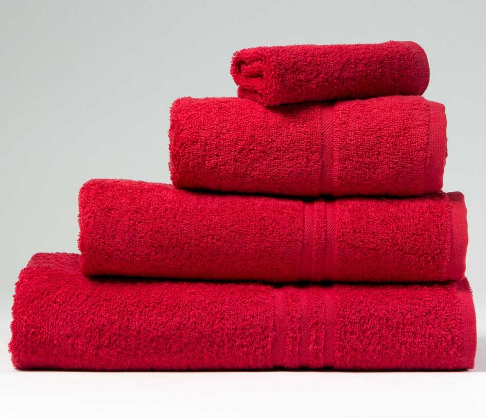 Blue Label 500gsm Plain Cherry Red Face Cloth (SEE SIZE OPTIONS) BuyTowels.co.uk