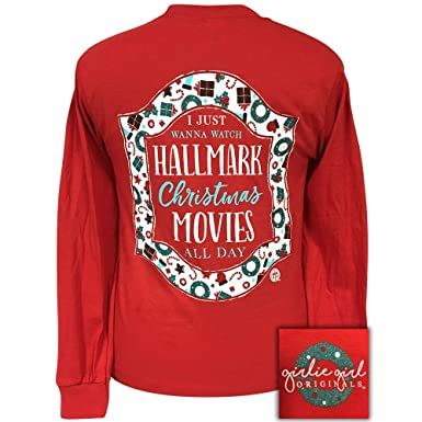 baa4d083 Girlie Girls Hallmark Movies Christmas Long Sleeve T-Shirt Adult (Small)