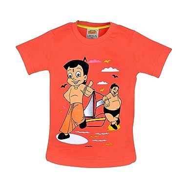 Amazon.com: Chhota Bheem con Kalia impreso cuello redondo ...
