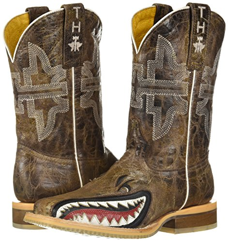 Pictures of Tin Haul Shoes Boys' Sharky Western Boot Tan 2 Medium US Little Kid 4