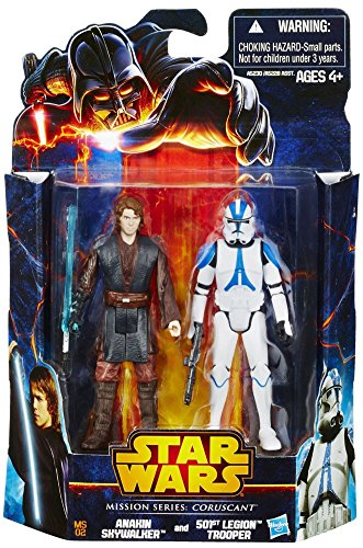 Star Wars, Mission Series, Coruscant Pack [Anakin Skywalker and 501st Legion Clone Trooper], 3.75 Inches ()