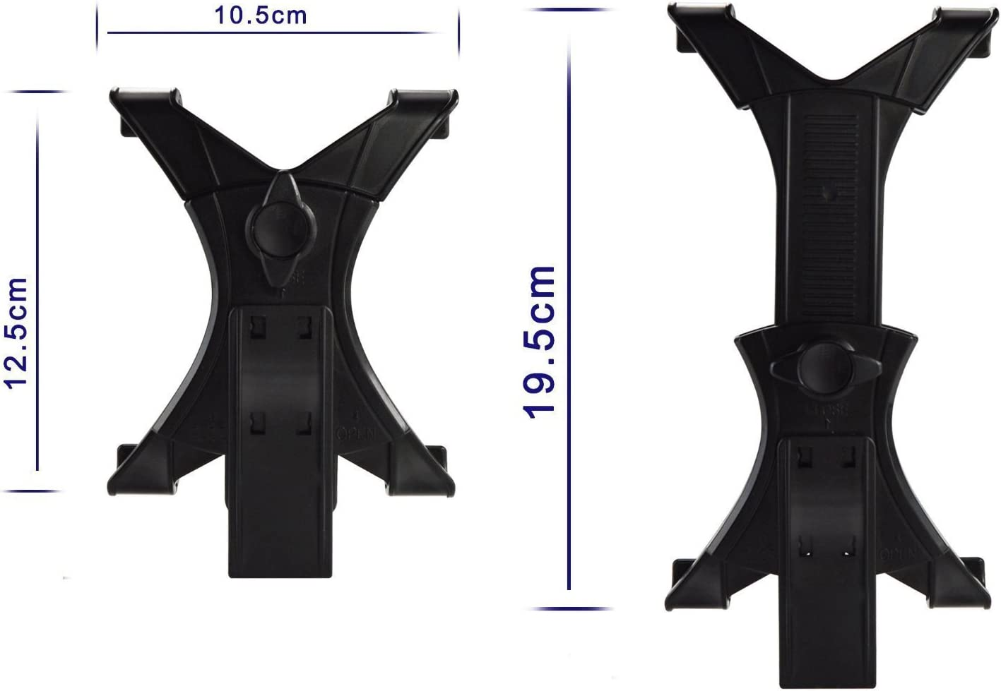 Tablet/&Phone Mount,PEYOU Compatible for iPad Universal Tablet Tripod Adapter Cell Phone Mount Holder Clamp Compatible for iPad Air Mini,Compatible for iPhone XS Max XR X 8 7 6 Plus,Galaxy S9 S8 Plus