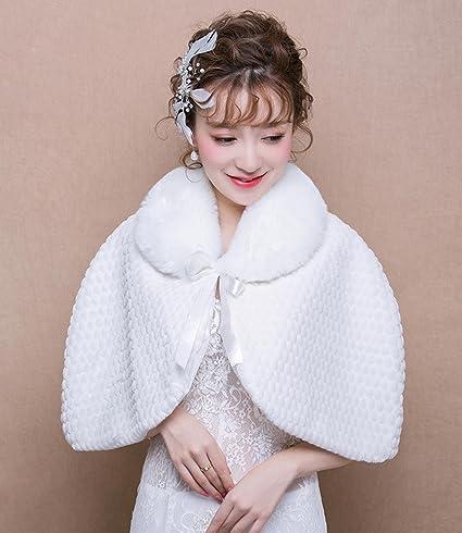 Nupcial caliente abrigo chaleco de felpa Faux piel de bodas / fiesta / patrón de noche