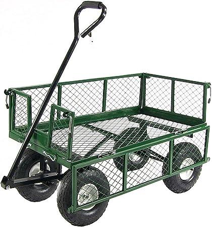 DQ-asdfzxcv Jardín carros basurero Carro de la Compra Cesta Utilidad del césped al Aire Libre de Acero for Trabajo Pesado Playa del césped Yard: Amazon.es: Hogar
