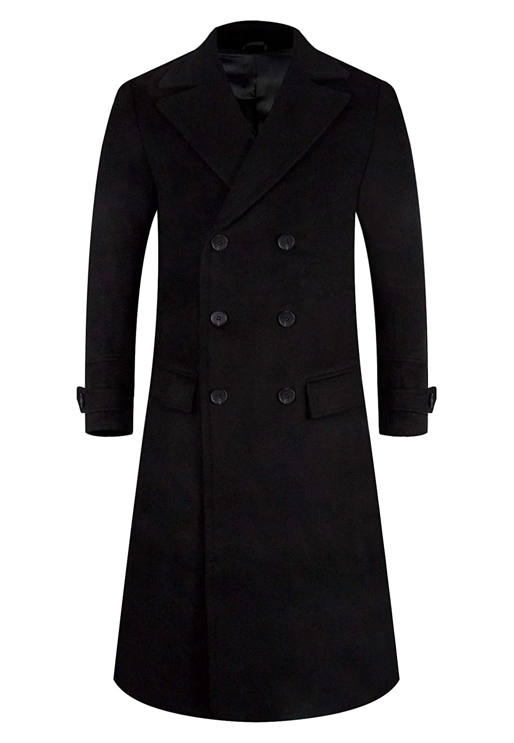 APTRO Men's Wool Coat Trench Coat Long Winter Jacket