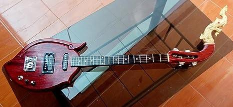Isarn eléctrico Phin 3 cuerdas 3 Track, Thai Lao guitarra instrumento musical, música tradicional