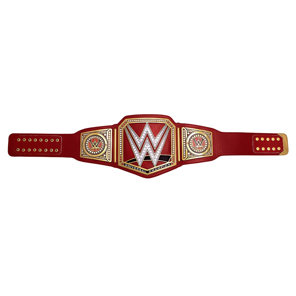 WWE Universal Championship Commemorative Title Belt Gold/Red by WWE Authentic Wear (Image #4)