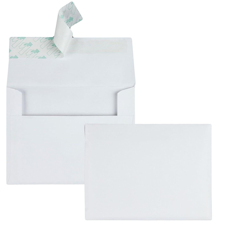 Quality Park Quarter-Fold Invitation Envelope, 4.375 x 5.75 Inches, Redi-Strip, White, 100 Envelopes (10740)