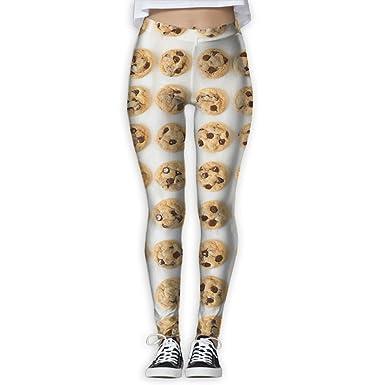 Amazon.com: HTSS Chocolate Chip Cookie pantalones de yoga ...