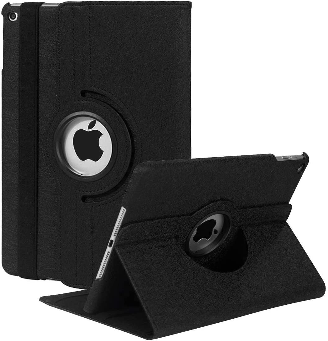 iPad Mini 1/2/3 Case - 360 Degree Rotating Stand Case Cover with Auto Sleep/Wake Feature for iPad Mini 1/iPad Mini 2/iPad Mini 3 (Black02)