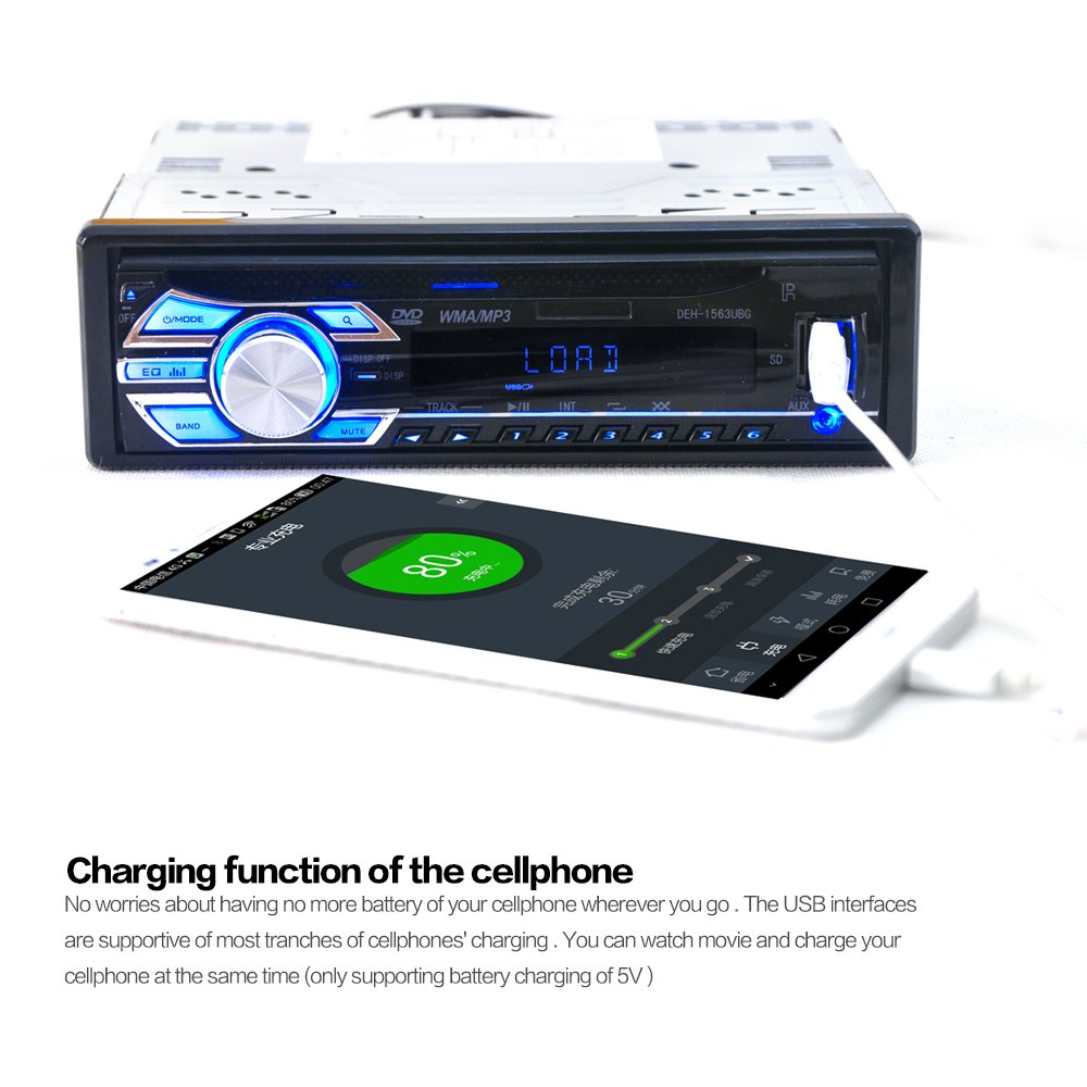 Amazon.com: Car CD Player Stereo Headunit CD DVD Player Receiver Radio 1 DIN 12V MP3/USB/SD/AUX/FM by Hengweili: Electronics