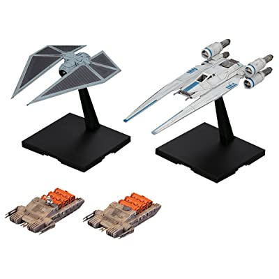 Bandai Hobby Star Wars U-Wing Fighter & Tie Striker Rogue One: A Star Wars Story 1/144, Multi (BAN212184): Toys & Games