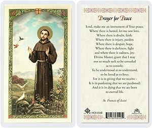 St Francis - Prayer for Peace Holy Card (HC9-034E) - Laminated