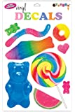 iscream Sugar-riffic! Candy Shop Sheet of Repositionable Vinyl Cling Decals