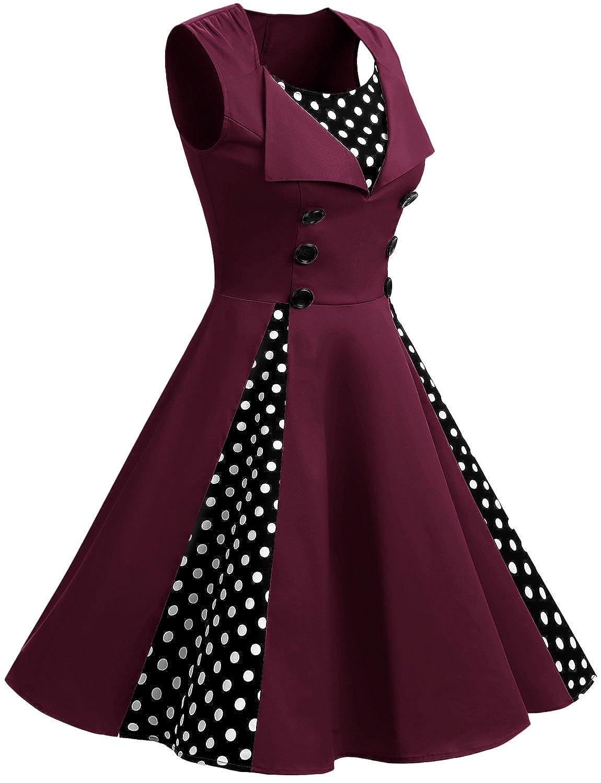 Gardenwed Donna Annata 1950 retrò Rockabilly Polka Vestito da Audery Swing  Senza Maniche Abito da Cocktail Partito  Amazon.it  Abbigliamento 9d66c8bea05