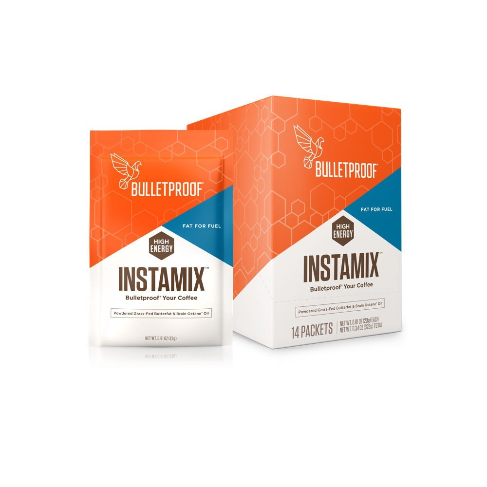 Bulletproof Coffee InstaMix Creamer, Includes Grass Fed Ghee and Brain Octane Powder, Keto Diet Friendly, Instant Energy