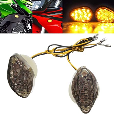 Motorcycle LED Flush Mount Turn Signals Indicator For Honda CBR600RR 2003-2012
