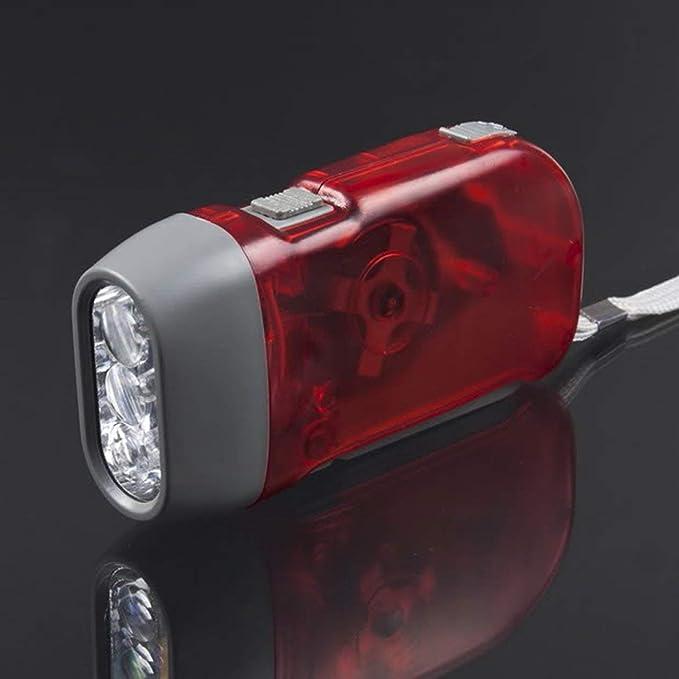 EdBerk74 3 LED Main En appuyant sur Dynamo Manivelle Puissance /À remonter Lampe de poche Torche Lumi/ère Main Presse Crank Camping Lampe Lumi/ère