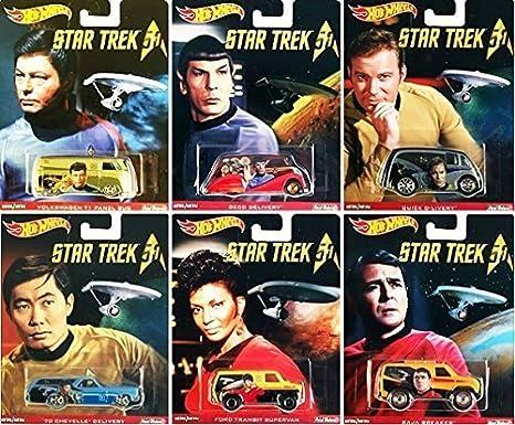 2016 Hot Wheels Pop Culture Star Trek Captain Kirk Quick D-Livery w//Real Riders