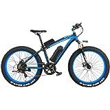 XF4000 26 pulgadas bicicleta de montaña eléctrica para hombre crucero moto de carretera 4.0 nieve grasa de neumáticos Bkie 1000W/500W energía fuerte 48V batería de iones de litio 7 velocidad suspensión tenedor