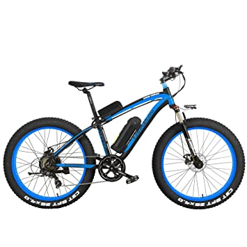 LANKELEISI XF4000 Elite 500W Potente Bicicleta eléctrica, 26 Pulgadas Fat Bike, Suspension Fork,