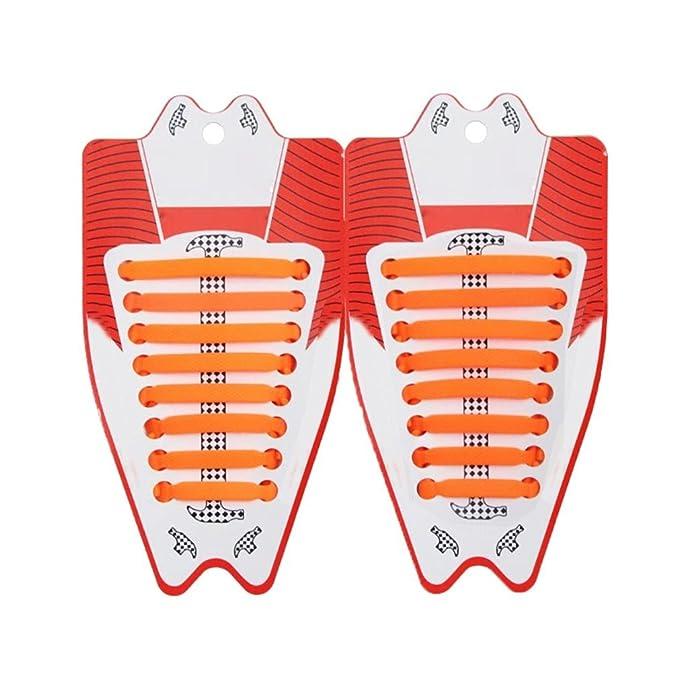 kunfang Lacci Scarpe Silicone Elastico Piatto Unisex Sneaker Non Cravatta Lacci  per Scarpe bb646bf41fc