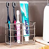K-Steel Stainless Steel Bathroom Toothbrush Holder Stand Toothpaste Holder  Sturdy Storage Holder