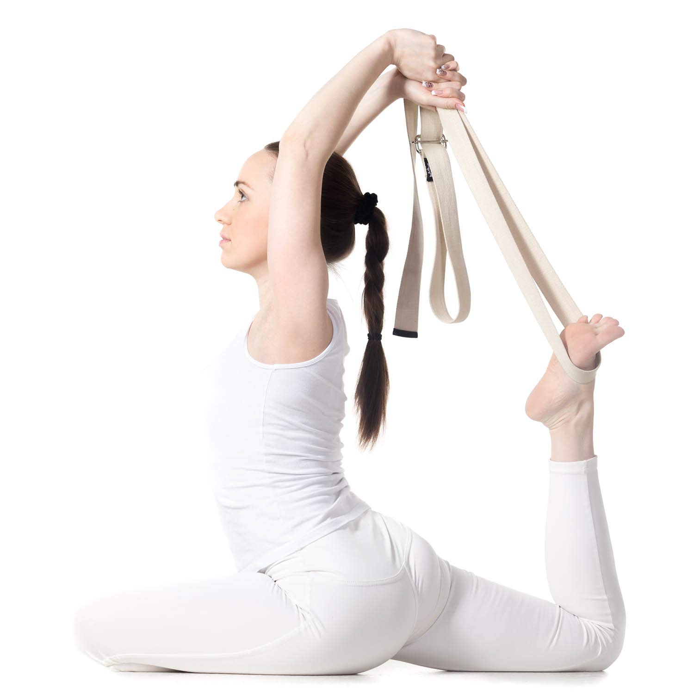 Body & Mind - Cinturón de Yoga (algodón, Cierre de Anilla en ...