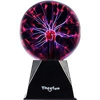 Theefun Bola de plasma mágica, 15 cm, bola electrostática, sensible al tacto, juguete educativo, parpadea, luz…