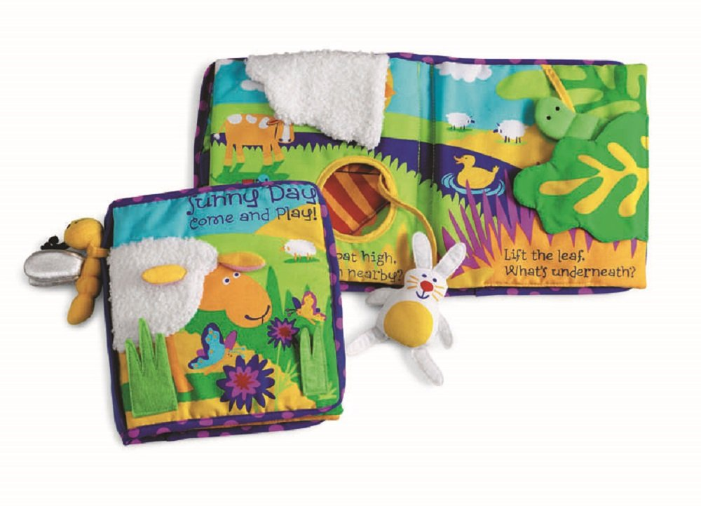 Manhattan Toy Soft Activity Book with Tethered Toy