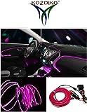 Kozdiko Pink Color 12V 5Mtrs Roll Cold Light Car Socket Strip Neon lamp Mood Creator Decor Interior Lighting For Mahindra Kuv 100