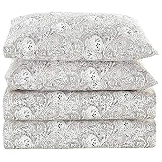 Mellanni Bed Sheet Set Brushed Microfiber 1800 Bedding - Wrinkle, Fade, Stain Resistant - Hypoallergenic - 4 Piece (Full, Paisley Gray) (B01CYLCJMY) | Amazon price tracker / tracking, Amazon price history charts, Amazon price watches, Amazon price drop alerts