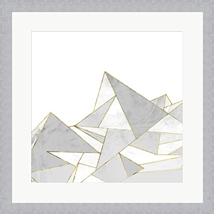 Amazon.com: Marbled Geo Mountains II by Posters International Studio ...