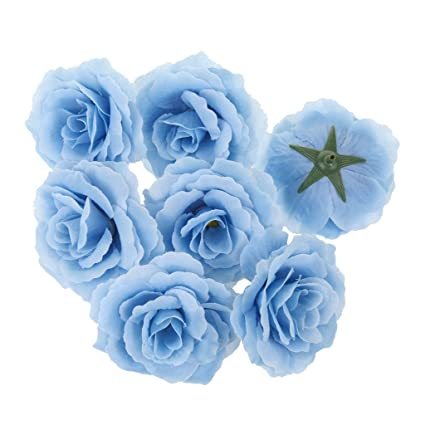 Lot De 20pcs Tetes De Fleur Rose Artificielle En Soie Sytnthetique