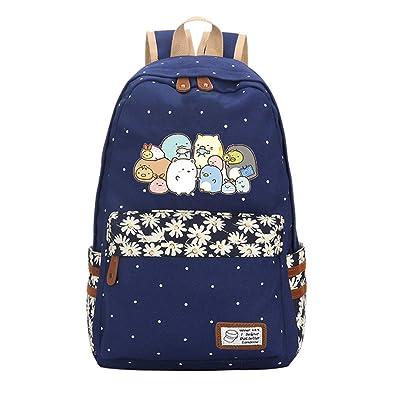 AUGYUESS Cute Sumikko Gurashi Backpack Cartoon School Bag Daypack Bookbag Shoulder Bag: Computers & Accessories