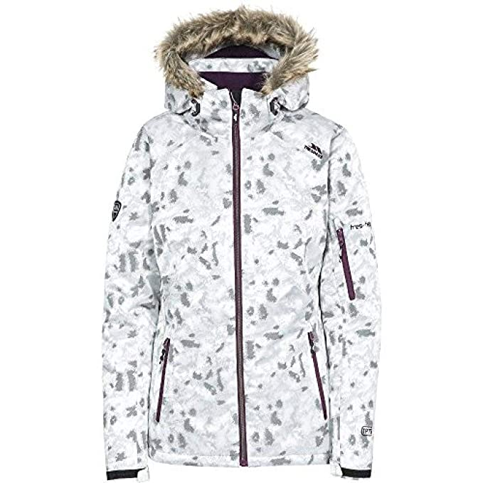 Trespass Womens Ladies Merrion Waterproof Breathable Hooded Ski Coat   Amazon.co.uk  Clothing dd973a4e0