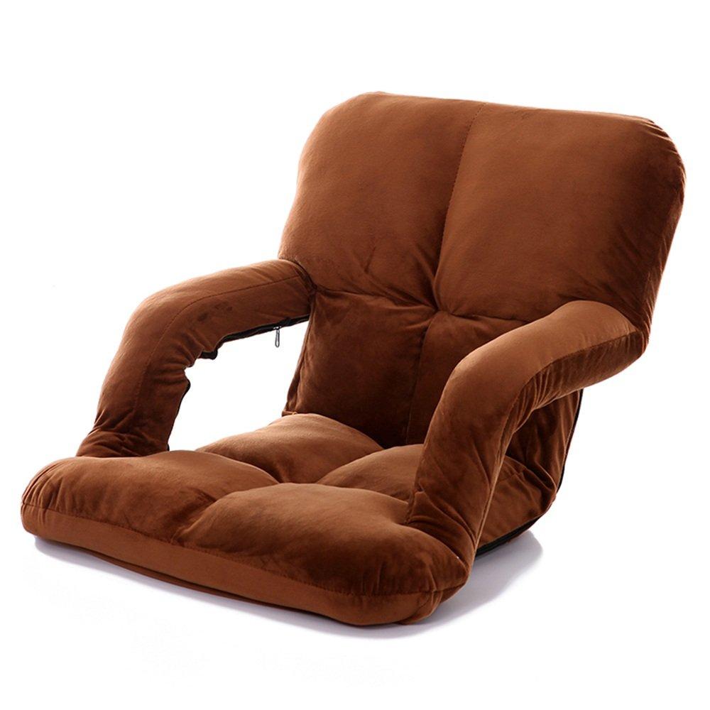 割引購入 QFFL バーリー強化多目的折りたたみチェア/創造的なアームレスト調節可能な背もたれの椅子 (色/実践的な床の椅子 B07FHYXG34/崩壊のないバルコニー居間の余暇の椅子(7色可能) アウトドアスツール (色 : QFFL Brown) Brown B07FHYXG34, 八戸フィッシング:409c382a --- turtleskin-eu.access.secure-ssl-servers.info