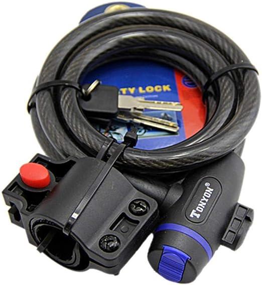 "* s Bicycle Cable Lock Bike Lock Heavy Duty 10mm x 36/"" Anti Theft Device w 2 key"