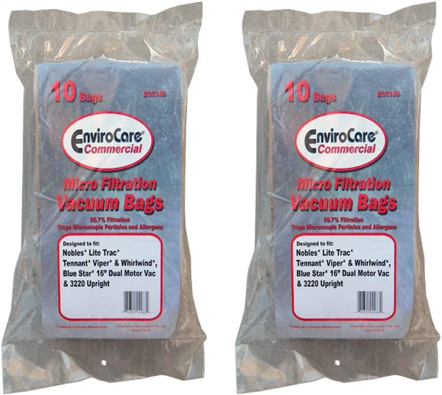 30 Castex Nobles Tennant Allergy Bags for Backpack Vacuum Cleaners 900000 604838 611780 900005 603373 613325 90003612058 611783 Blue Star 16 Dual Motor Vac Pac Portapac I/&II