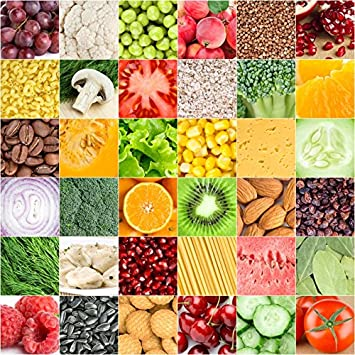 Amazon Com Leyiyi 4x4ft Photography Backdrop Collage Of Healthy Food Background Kids Birthday 1st B Day Hang Up Banner Fruits Vegetables Kitchen Nuts Checkered Flag Baby Shower Photo Portrait Vinyl Studio Prop
