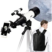 70mm Aperture 400mm AZ Mount Astronomical Refractor Telescope, Good Gift for Observe The Moon and Landscape - Portable…