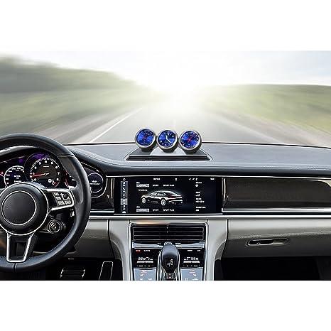 Walmeck Mini Auto Digital Quarz Uhr//Hygrometer// Thermometer Dekoration Hohe Pr/äzision Automotive Elektronische Autozubeh/ör