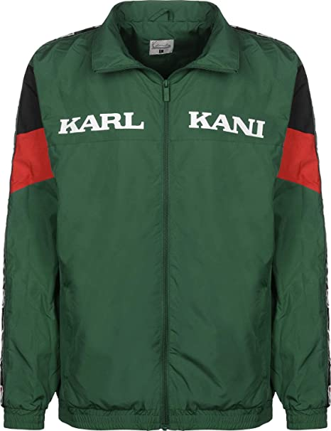 Karl Kani Retro Chaqueta de deporte green/red/black: Amazon.es: Ropa y accesorios