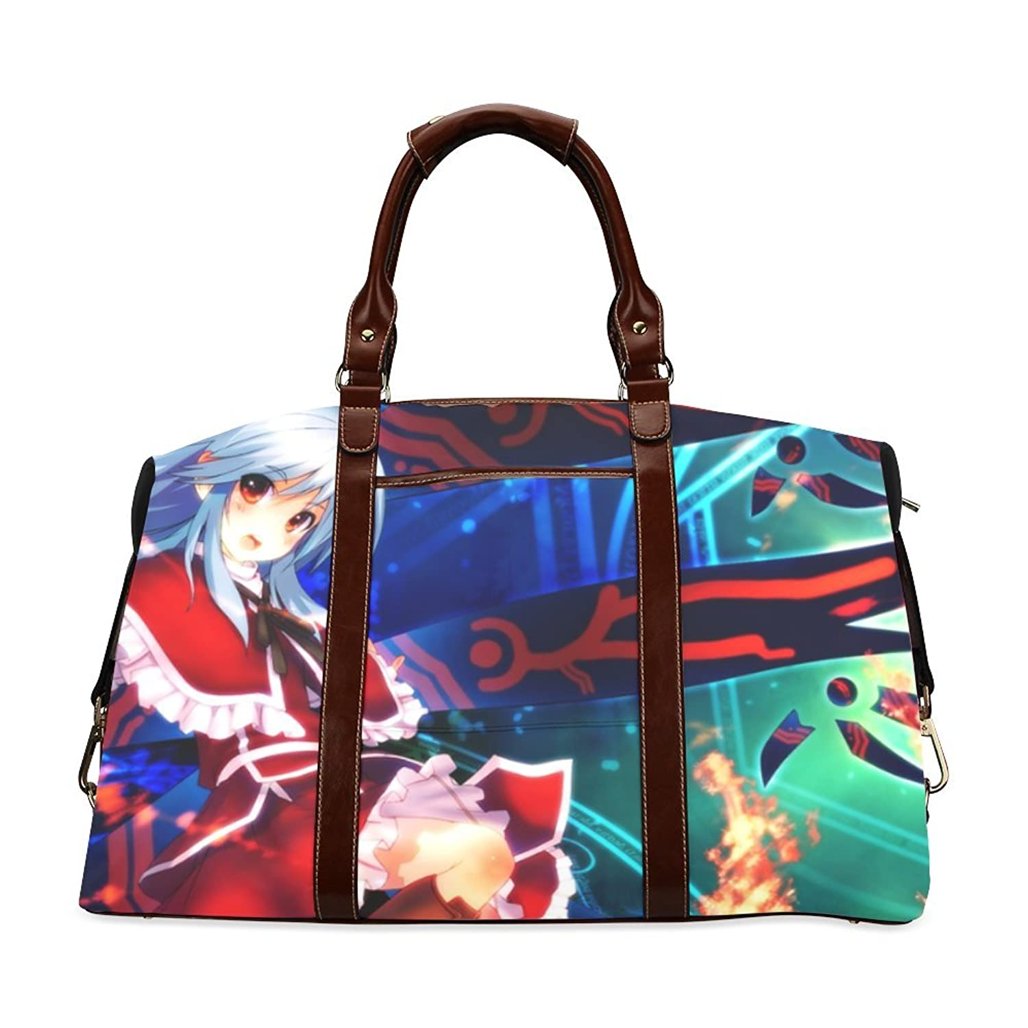 Anime Girl Custom Waterproof Fabric Two-sided Printing Flight Bag