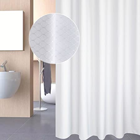 white waffle shower curtain. Eurcross White Waffle Shower Curtain,Anti Mould And Mildew Resistant Bathroom Curtain With 12pcs I