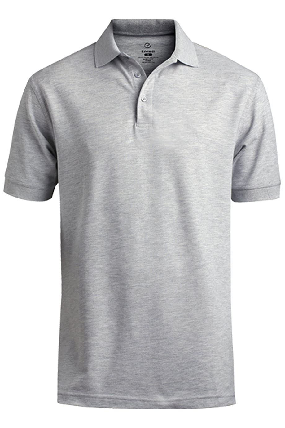 Edwards Garment Mens Big And Tall Soft Pique Polo Shirt/_HEATHER GREY/_Medium
