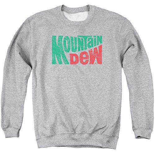 Trevco Mountain Dew Wavy Logo Unisex Adult Crewneck Sweatshirt For Men and Women