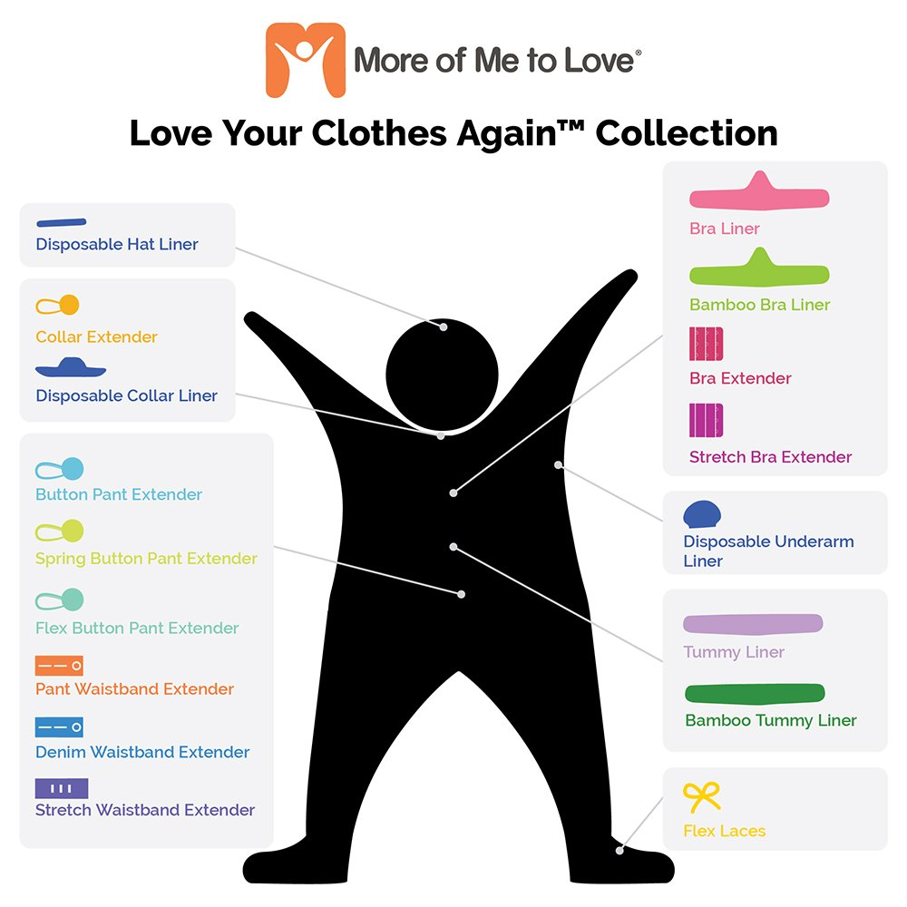 Cotton Tummy Liner (3-Pack, Medium, White) by More of Me to Love (Image #5)
