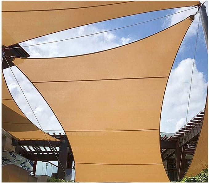 Toldo Vela Vela de Sombra Rectángulo Sombra de Sol Vela 3x3m 4X5m Paja de Pérgola de Impermeable 95% UV Sombra Exterior Pantalla de Protección Solar Para Terraza Pérgola Patio Trasero Actividades Told: